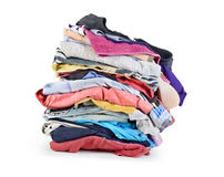 Pile of clothing Stock Photos