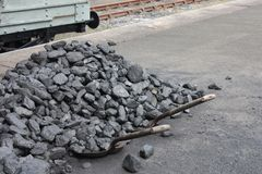 A Pile of Coal. Stock Photos