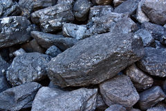 Pile of coal Royalty Free Stock Photos