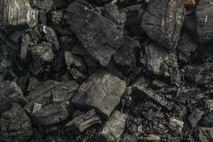A pile of coal. Place of fire Royalty Free Stock Image