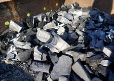 Pile of coals Royalty Free Stock Image