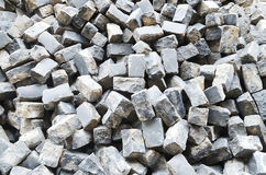 Pile of cobblestone pavers Royalty Free Stock Image