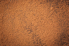 Pile cocoa powder,Background of a dry powder cocoa brown,heap of Royalty Free Stock Images