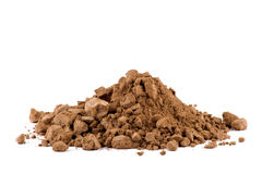 A pile of Cocoa powder isolated Stock Images