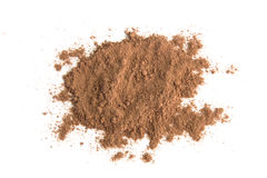Pile cocoa powder isolated on white background Stock Photography
