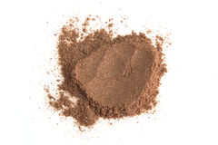 Pile cocoa powder isolated on white background Stock Images