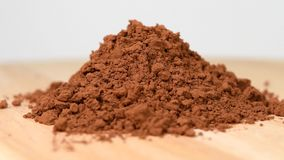 Pile of cocoa powder. Rotating stock footage