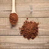 Pile of cocoa powder Stock Photos