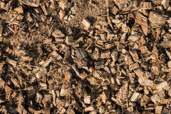 The pile of coconut husk for agriculture Royalty Free Stock Photos