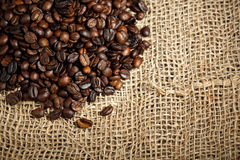 Pile of coffee beans Royalty Free Stock Photo