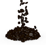 Pile of coffee beans Royalty Free Stock Photography