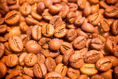 Pile of Coffee beans background texture Stock Photo
