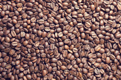 Pile of coffee beans Stock Photos