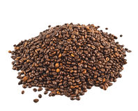 Pile of coffee beans isolated Royalty Free Stock Photo