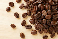 Pile of coffee beans Stock Images