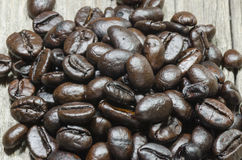 Pile of coffee beans Royalty Free Stock Image