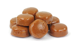 Pile of Coffee Flavored Hard Candy Royalty Free Stock Image