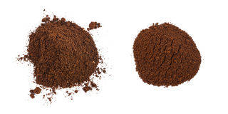 A Pile Of Coffee Grounds Isolated Royalty Free Stock Images