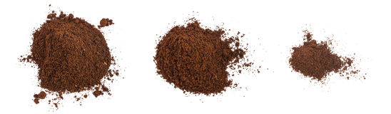 A Pile Of Coffee Grounds Isolated Royalty Free Stock Photography