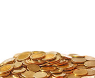 Pile of coin isolated Royalty Free Stock Image
