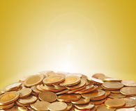 Pile of coin isolated Royalty Free Stock Photography