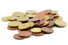 Pile of coins Royalty Free Stock Photography