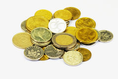 Pile of coins stock image