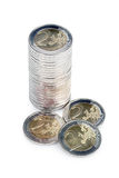 Pile of coins Royalty Free Stock Image