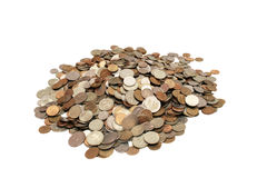 Pile of coins. Royalty Free Stock Photos