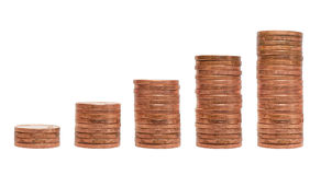 Pile of coins chart Stock Photo