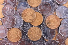 A pile of coins Royalty Free Stock Image