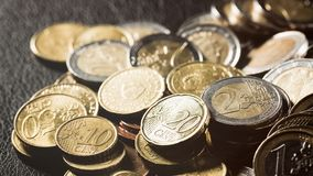 Pile of Coins - Euro Stock Photography