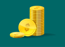 Pile of coins. Illustration Stock Image
