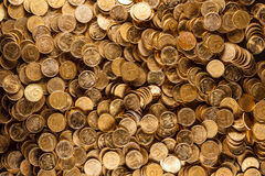 Pile of coins. Isolated on background Stock Images