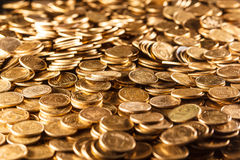 Pile of coins. Isolated on background Stock Image
