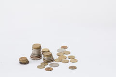 A pile of coins Stock Image