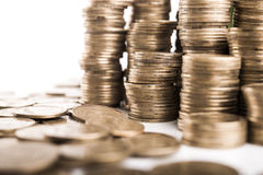 Pile of coins money Royalty Free Stock Image
