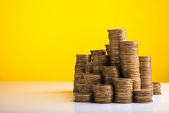 Pile of coins money Royalty Free Stock Photos