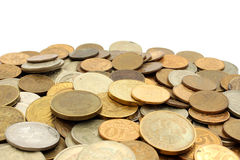 A pile of coins Russian rubles Royalty Free Stock Images
