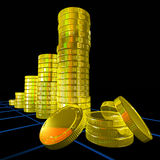 Pile Of Coins Shows Monetary Success Royalty Free Stock Photos