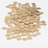 Pile of of coins Ukrainian Royalty Free Stock Photo
