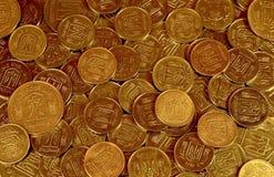 A pile of coins Ukrainian Stock Photos