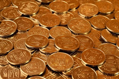 A pile of coins Ukrainian Royalty Free Stock Image