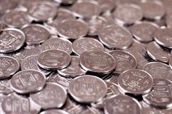 A pile of coins Ukrainian Stock Photography