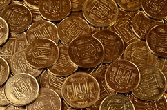 A pile of coins Ukrainian Royalty Free Stock Images