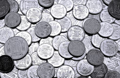A pile of coins Ukrainian Royalty Free Stock Photography
