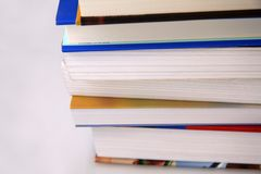 Pile of College Text Books Royalty Free Stock Images