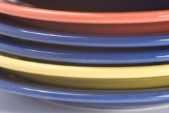 Pile of coloful plates Stock Image