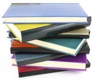 Pile of color books Royalty Free Stock Photography
