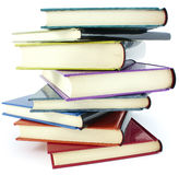 Pile of color books Stock Photo